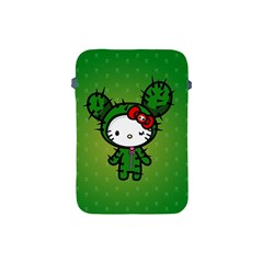 Vector Cat Kitty Cactus Green  Apple Ipad Mini Protective Soft Cases