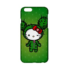 Vector Cat Kitty Cactus Green  Apple Iphone 6/6s Hardshell Case by amphoto