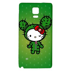 Vector Cat Kitty Cactus Green  Galaxy Note 4 Back Case by amphoto