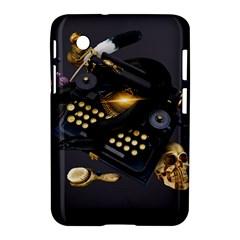 Typewriter Skull Witch Snake  Samsung Galaxy Tab 2 (7 ) P3100 Hardshell Case  by amphoto