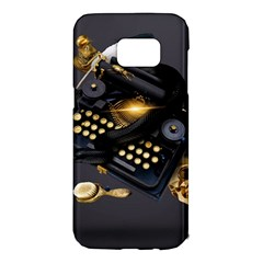 Typewriter Skull Witch Snake  Samsung Galaxy S7 Edge Hardshell Case by amphoto