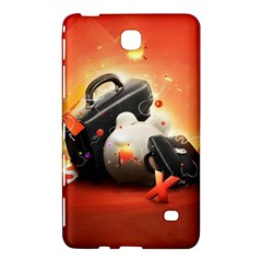 Suitcase Orange Red Black White  Samsung Galaxy Tab 4 (7 ) Hardshell Case  by amphoto