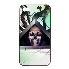 Skull Triangle Wood  Apple Iphone 4/4s Seamless Case (black) by amphoto