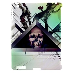 Skull Triangle Wood  Apple Ipad 3/4 Hardshell Case (compatible With Smart Cover) by amphoto