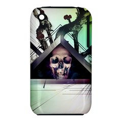 Skull Triangle Wood  Iphone 3s/3gs by amphoto