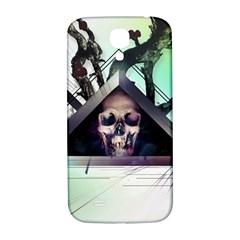 Skull Triangle Wood  Samsung Galaxy S4 I9500/i9505  Hardshell Back Case by amphoto
