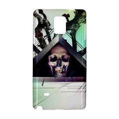 Skull Triangle Wood  Samsung Galaxy Note 4 Hardshell Case by amphoto