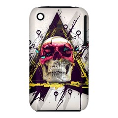 Skull Paint Butterfly Triangle  Iphone 3s/3gs by amphoto