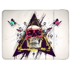 Skull Paint Butterfly Triangle  Samsung Galaxy Tab 7  P1000 Flip Case by amphoto