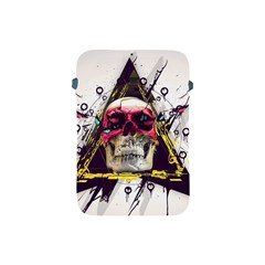 Skull Paint Butterfly Triangle  Apple Ipad Mini Protective Soft Cases by amphoto