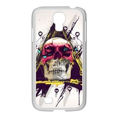 Skull Paint Butterfly Triangle  Samsung Galaxy S4 I9500/ I9505 Case (white) by amphoto