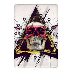 Skull Paint Butterfly Triangle  Samsung Galaxy Tab Pro 12 2 Hardshell Case by amphoto
