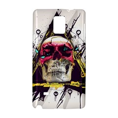 Skull Paint Butterfly Triangle  Samsung Galaxy Note 4 Hardshell Case by amphoto