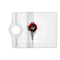 Red White Black Figure  Kindle Fire Hd (2013) Flip 360 Case by amphoto