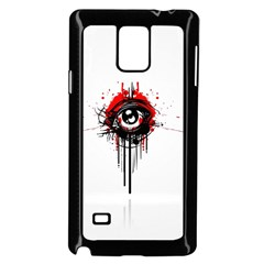 Red White Black Figure  Samsung Galaxy Note 4 Case (black) by amphoto