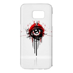 Red White Black Figure  Samsung Galaxy S7 Edge Hardshell Case by amphoto