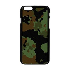 Military Background Texture Surface  Apple Iphone 6/6s Black Enamel Case by amphoto