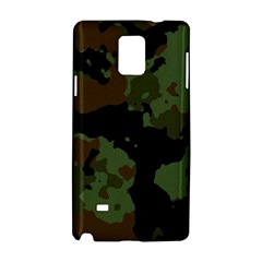 Military Background Texture Surface  Samsung Galaxy Note 4 Hardshell Case by amphoto