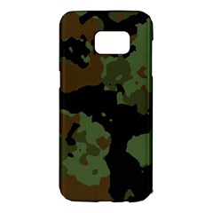 Military Background Texture Surface  Samsung Galaxy S7 Edge Hardshell Case by amphoto