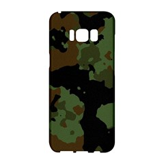 Military Background Texture Surface  Samsung Galaxy S8 Hardshell Case  by amphoto