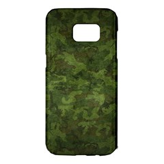 Military Background Spots Texture  Samsung Galaxy S7 Edge Hardshell Case by amphoto