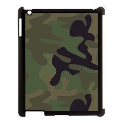 Military Spots Texture Background  Apple Ipad 3/4 Case (black) by amphoto