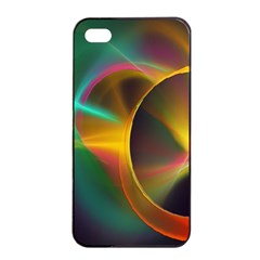 Light Color Line Smoke Apple Iphone 4/4s Seamless Case (black) by amphoto