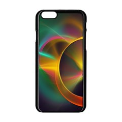 Light Color Line Smoke Apple Iphone 6/6s Black Enamel Case by amphoto