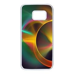 Light Color Line Smoke Samsung Galaxy S7 White Seamless Case by amphoto
