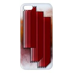 Line Shape Spot Paint  Apple Iphone 5 Premium Hardshell Case by amphoto