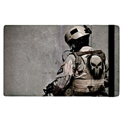 Cool Military Military Soldiers Punisher Sniper Apple Ipad 3/4 Flip Case by amphoto