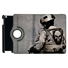Cool Military Military Soldiers Punisher Sniper Apple Ipad 3/4 Flip 360 Case by amphoto