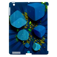 Cube Leaves Dark Blue Green Vector  Apple Ipad 3/4 Hardshell Case (compatible With Smart Cover) by amphoto