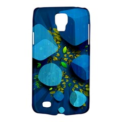 Cube Leaves Dark Blue Green Vector  Galaxy S4 Active by amphoto