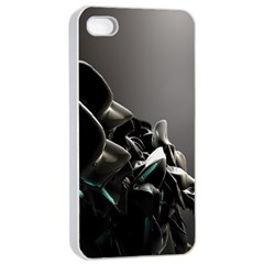 Black White Figure Form  Apple Iphone 4/4s Seamless Case (white) by amphoto