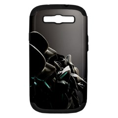 Black White Figure Form  Samsung Galaxy S Iii Hardshell Case (pc+silicone) by amphoto