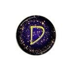 0Alphabet-D Hat Clip Ball Marker (4 pack)