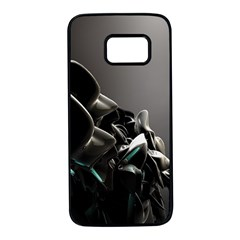 Black White Figure Form  Samsung Galaxy S7 Black Seamless Case by amphoto