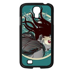 Angel Wings Paint  Samsung Galaxy S4 I9500/ I9505 Case (black) by amphoto