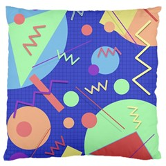 Memphis #42 Large Flano Cushion Case (two Sides) by RockettGraphics