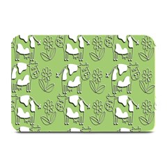 Cow Flower Pattern Wallpaper Plate Mats
