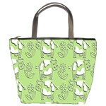 Cow Flower Pattern Wallpaper Bucket Bags Front