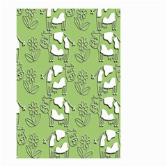 Cow Flower Pattern Wallpaper Small Garden Flag (two Sides) by Nexatart