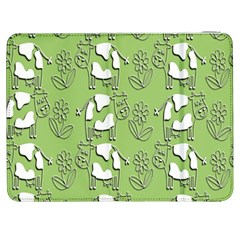 Cow Flower Pattern Wallpaper Samsung Galaxy Tab 7  P1000 Flip Case by Nexatart