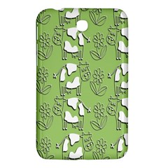 Cow Flower Pattern Wallpaper Samsung Galaxy Tab 3 (7 ) P3200 Hardshell Case