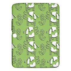 Cow Flower Pattern Wallpaper Samsung Galaxy Tab 3 (10 1 ) P5200 Hardshell Case  by Nexatart