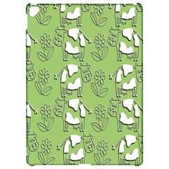 Cow Flower Pattern Wallpaper Apple Ipad Pro 12 9   Hardshell Case