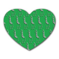 Giraffe Pattern Wallpaper Vector Heart Mousepads