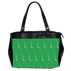 Giraffe Pattern Wallpaper Vector Office Handbags (2 Sides)
