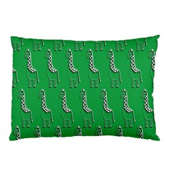 Giraffe Pattern Wallpaper Vector Pillow Case (two Sides)